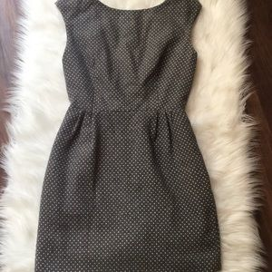 DOLCE VITA grey & white polka dot dress w/pockets